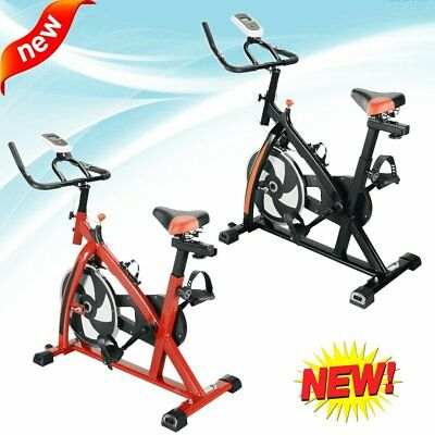 Black Bicycle Cycling Fitness Exercise Stationary Bike Cardio Home Indoor Red AS