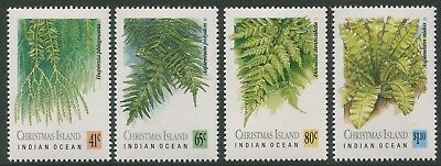 Ferns Of Christmas Island 1989 - Mnh Set Of Four (Bl357-Rr)