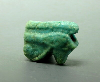 Large Egyptian Blue Glazed Faience Eye Of Horus Amulet (L840)