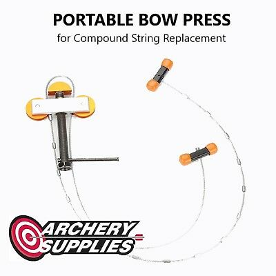 Portable BOW PRESS for Compound String Replacement by Junxing Archery