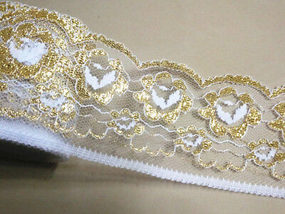 6cm Gold Embroidered Lace - Simply stunning - 2 yards