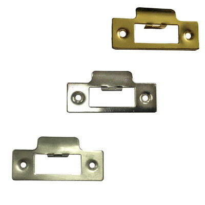 Strike Plate Brass Satin Polished Chrome To Use With Tubular Mortice Door Latch