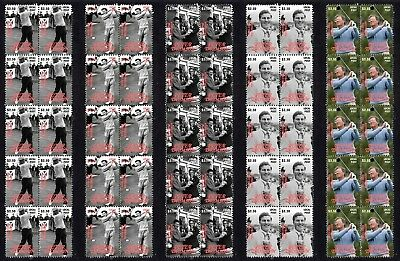 Peter Thomson Golf Icon Set Of 5 Mint Stamp Strips