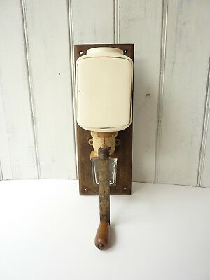 Vintage wall mounted coffee grinder, Antique French decor, rustic decor
