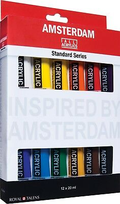 Amsterdam Acrylic Art & Craft Paint Standard Series Colours 12 x 20ml Set