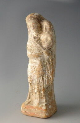 Greek Hollow Moulded Terracotta Statuette Of Woman & Child (L848)