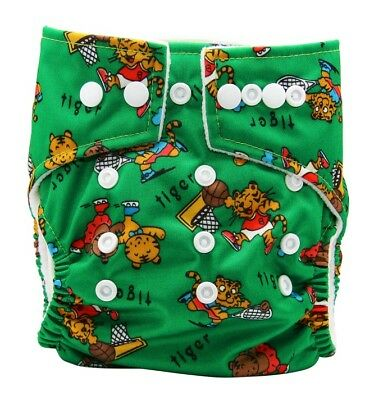 Green Tiger Modern Cloth Diaper - Reuseable MCN, Washable Nappy