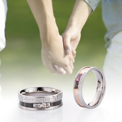 Couple Ring Matching Rings King Queen Stainless Steel Lovers Wedding Jewelry
