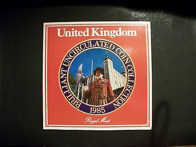 United Kingdom 1985 uncirculated coin collection