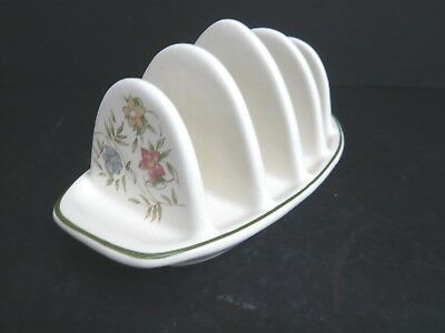 Pretty Pottery 4 Slice Toast Rack with Floral Detail
