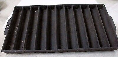Antique Unmarked Cast Iron 11 Slot Corn Bread Stick Pan 954 Griswold Pattern No.