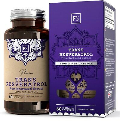 Trans-Resveratrol  |  150mg  |  90 Capsules  |  High Strength Antioxidant