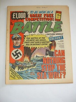 BATTLE PICTURE WEEKLY and VALIANT comic 16th July 1977