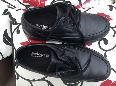 Mens Padders Black Shoes Size 8