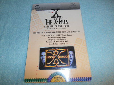 The X Files 1995 Frontier PRE PAID Phone Card NEW IN PACKAGE SOLD AS COLLECTIBLE