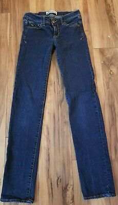 Abercrombie kid's girls slim size dark wash distressed skinny jeans size 12 slim