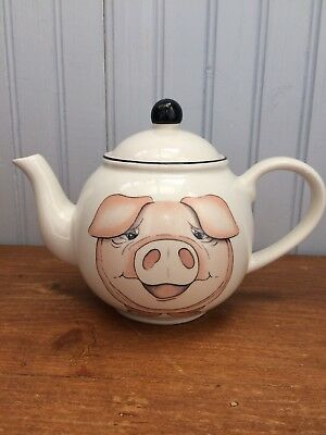 Arthur Wood Pottery Back To Front Pig Tea Pot