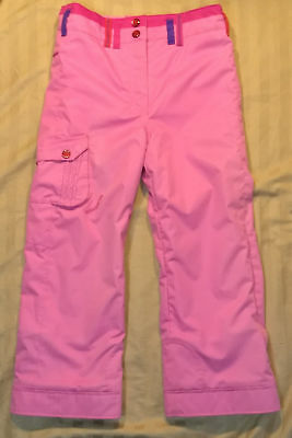 Girl's Obermeyer I Grow Extended System Ski Snow Utopia Pants Pink Kids Size 7