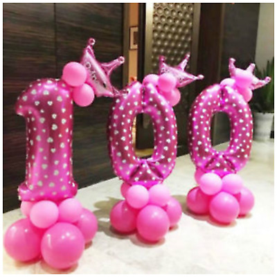 "u16"" 30"" 40"" Giant Number Foil Balloons baloons birthday wedding Decor BALON"