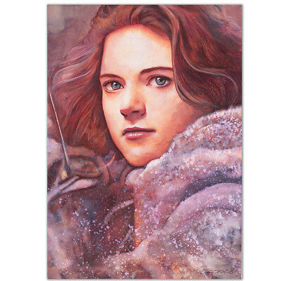 "ORIGINAL AQUARELL ""Listen to me"" WATERCOLOR ROSE LESLI YGRITTE GAME OF THRONES"