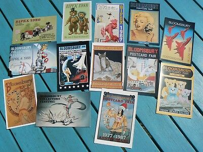 Collection Of 13 Postcards - Bloomsbury Bipex Postcard Fairs