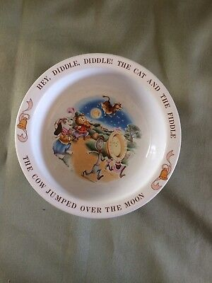 1984 Avon Hey Diddle Diddle The Cat And The Fiddle Baby Plate Bowl