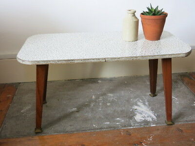 Vintage 50s 60s Mid Century Patterned Coffee Table 20th Century Plant Table