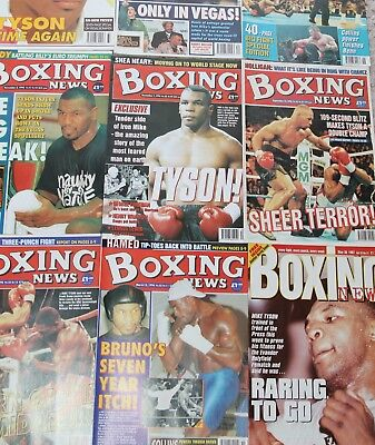 Vintage Boxing News 20 Tyson covers All New Un-Read - Harry Mullan - 80's & 90's