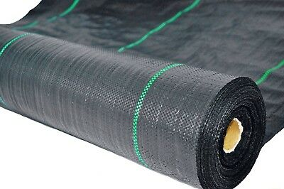 2m x 10m WEED CONTROL HEAVY DUTY FABRIC 100gsm GROUND COVER MEMBRANE GARDEN