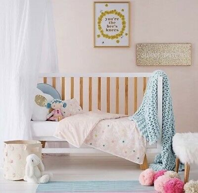 adairs kids DAISY Cot quilt cover set RRP $99.95