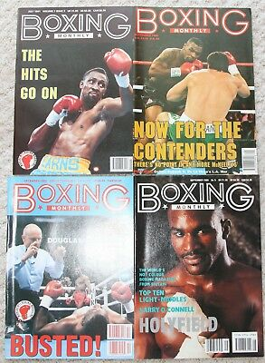 Vintage Boxing Monthly Magazines - 80's & 90's - Hearns Tyson Holyfield covers
