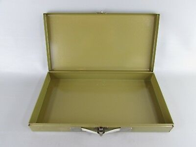 Vintage Metal 35mm Slide or 2x2 Coin Storage Box - EMPTY  Green film photography
