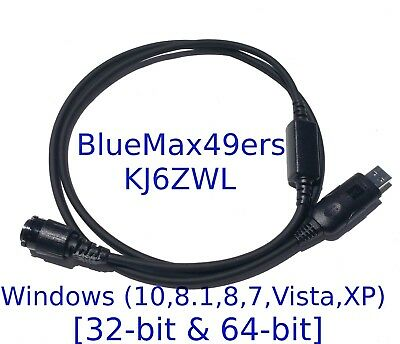USB Programming Cable Motorola XPR4550  XPR4580 HKN6184C + CPS + Support