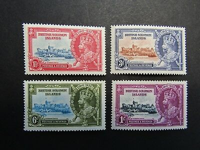 British Solomon Islands - Gv 1935 Silver Jubilee Set - Fine Mnh