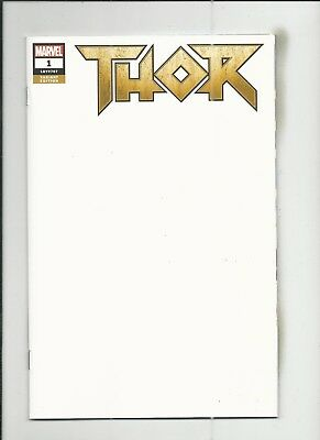 Thor #1 (2018) Blank Variant Cover very fine/near mint (VF/NM) condition