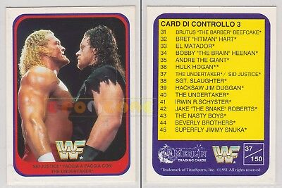 Merlin Trading Cards WWF 1991 - SID JUSTICE vs THE UNDERTAKER 37/150 - Italiana
