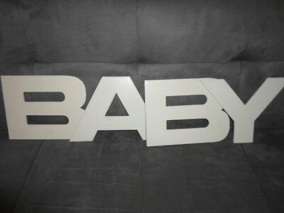 Lot Lettres Mot Baby Decoration Chambre Bebe Coming B Tres Bon Etat D36