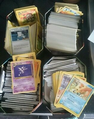 Job Lot Bulk Pokemon Cards Collection - Old and New - Base Set eSeries  - 1000+