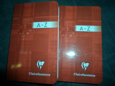 2 Cahiers Repertoire Clairefontaine Piques 96 Pages 9X14 Cm Bleu Ou Rouge Neuf