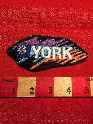 Vintage (circa 1980s) YORK AIR CONDITIONING Advertising Patch 85I5