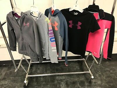 Under Armour Mixed Clothing Lot of 5/Size YMD/ Hoodie/ Zip Up Jackets Etc...