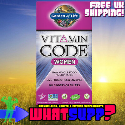GARDEN OF LIFE Vitamin Code WOMEN x120 Vcaps RAW Multivitamin Probiotics Enzymes