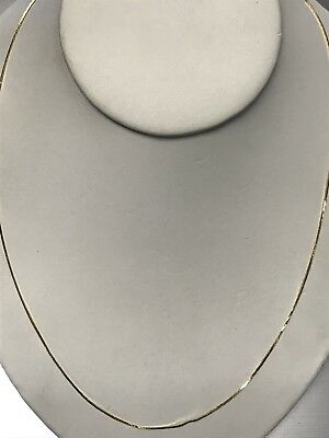Beautiful 14KT Yellow Gold 585 ITALY Smooth Linked Chain Necklace W Spring Clasp