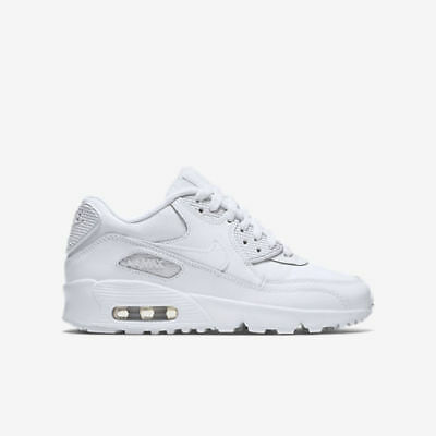 new arrivals 012a3 9d248 Nike Air Max 90 LTR (GS) 833412-100 Triple White Youth Boy s Lifestyle