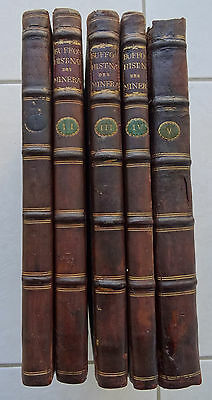 HISTOIRE NATURELLE DES MINERAUX  Buffon 1798 5 tomes in 4 or mines