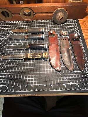 MARBLES Vintage Fixed Blade Knife lot