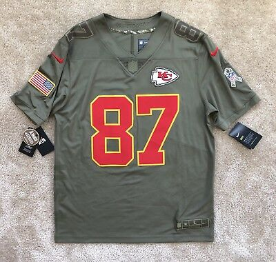 watch efbb3 6c39a TRAVIS KELCE KANSAS City Chiefs Salute to Service Nike Limited Jersey Large  NWT