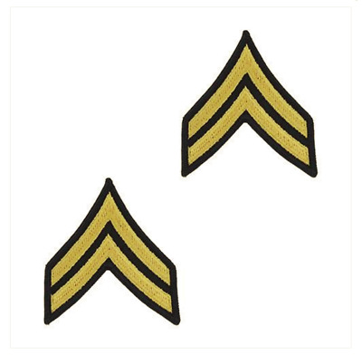 Vanguard ARMY CHEVRON: CORPORAL - GOLD EMBROIDERED ON BLUE, FEMALE