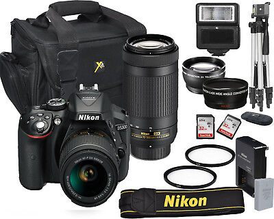 Nikon D5300 Digital Slr Camera 18-55Mm Vr + 70-300Mm Kit  Bundle