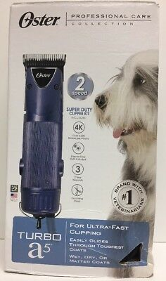(New) Oster Professional Care A5 Turbo 2-Speed Pet Clipper Kit